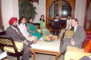 Gregory Barker, Minister of State Climate Change and Energy at the meeting in Bangalore